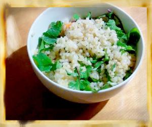 玄米サラダご飯ss