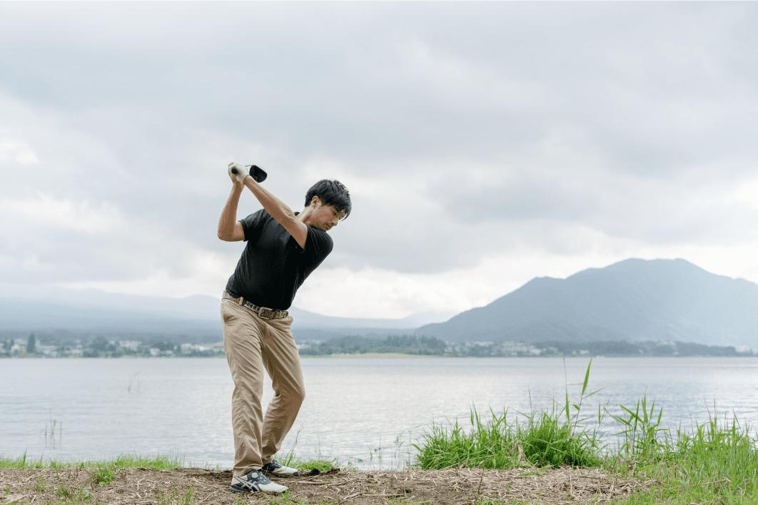 ゴルフ用品の収納